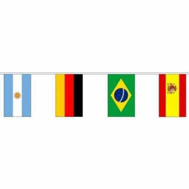 Feest internationale vlaggenlijn 10 meter