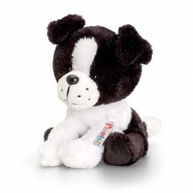 Feest keel toys pluche border collie hond knuffel 14 cm