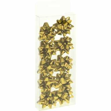 Kerst cadeaustrikjes goud 10 stuks 5 cm
