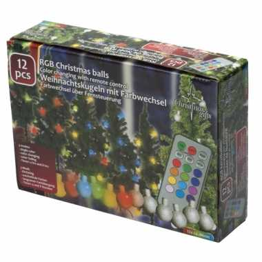 Feest kerstballen met gekleurde verlichting