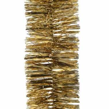 Kerstboom folie slinger goud 270 cm