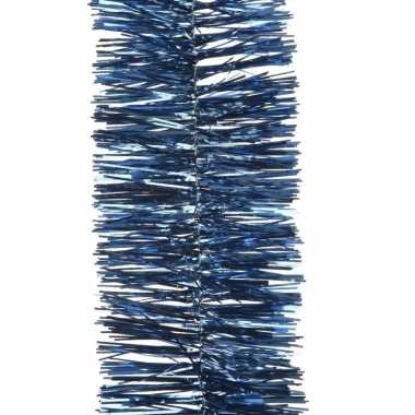 Kerstboom folie slinger nachtblauw 270 cm