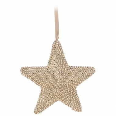 Feest kerstboom hanger ster 21 cm