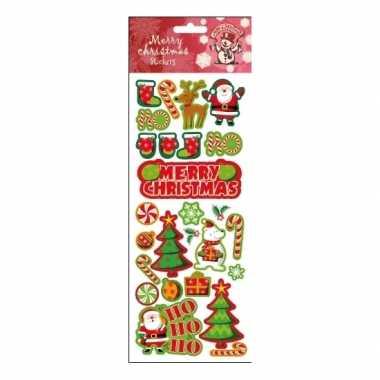 Feest kerstcadeau stickervel