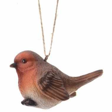 Kersthanger vogeltje roodborstje 7.5 cm