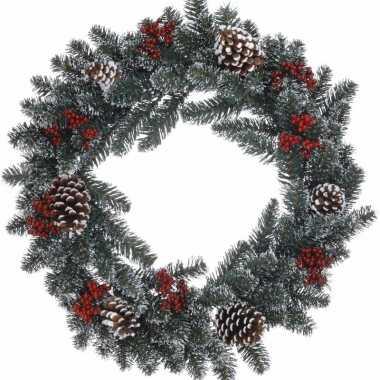 Feest kerstkrans dennentakjes 60 cm 10129166