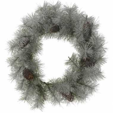 Feest kerstkrans met sneeuw 45 cm