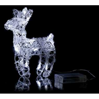 Kerstmis decoratie rendier met licht