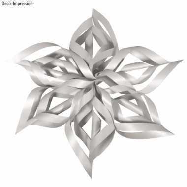 Feest kerstster knutsel set zilver