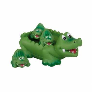 Feest kinder krokodil voor in bad
