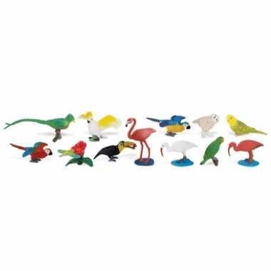 Kinder speelgoed tropische vogels