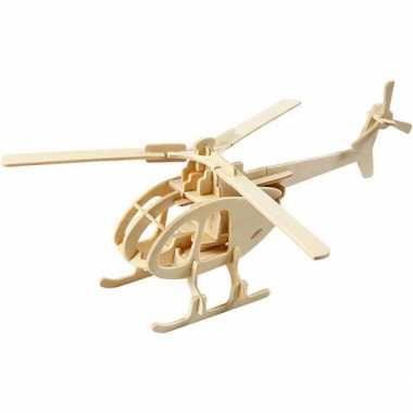 Feest kinderspeelgoed 3d puzzel helicopter
