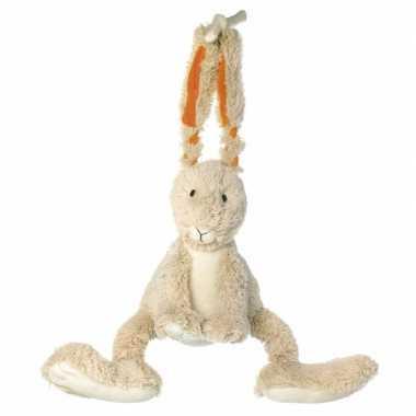 Feest knuffel konijn muziekdoos 26 cm