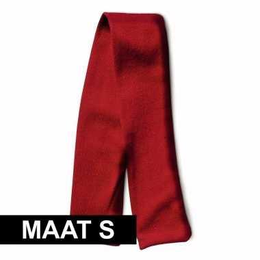 Feest knuffelkleding maat s sjaal rood