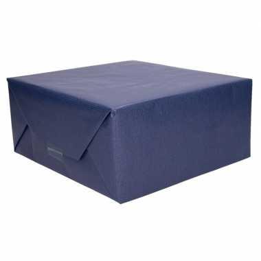 Kraft geschenkpapier donkerblauw 70 x 200 cm