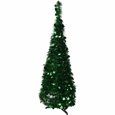 Kunst kerstboom 120 cm lametta grote pailletten