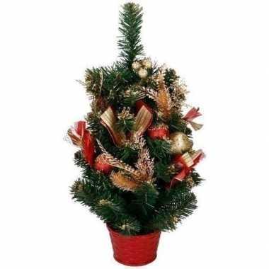 Kunst kerstboom met rood / goud versiering kerst decoratie 50 cm