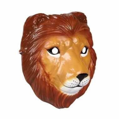 Feest leeuwen masker 3d plastic 22cm