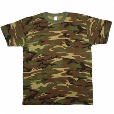 Feest leger t-shirt camouflage print