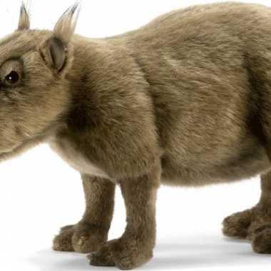 Feest levensechte hansa pluche capibara knuffel 33 cm