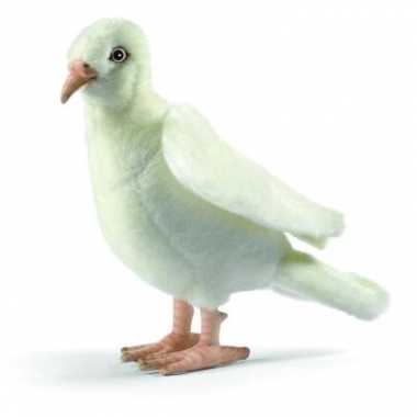 Feest levensechte hansa pluche witte duif knuffel 20 cm
