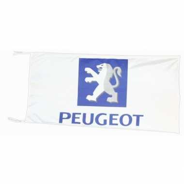 Feest logo vlag peugeot 150 x 75 cm