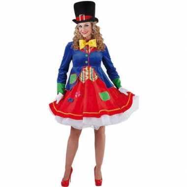 Feest luxe clowns jurkje lucky voor dames