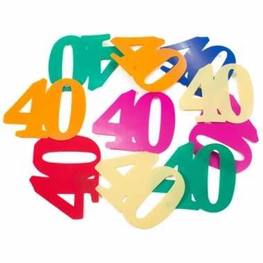 Magnifiek Mega confetti 40 jaar gekleurd | Feestwinkel-online.nl #JH56