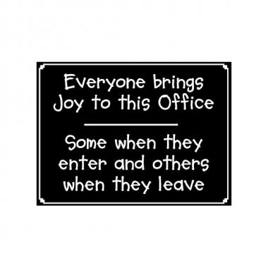 Feest metalen plaatje office voor op kantoor