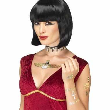 Feest metallic tattoos egyptisch thema 7 stuks