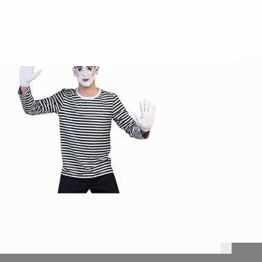 Feest mime shirt voor heren
