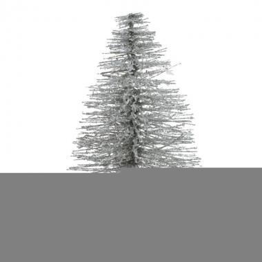 Mini decoratie kerstboompje van 30 cm in het champagne/goud