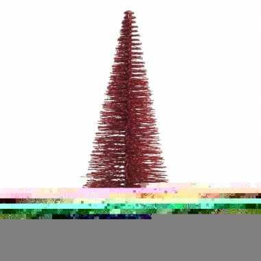 Mini decoratie kerstboompje van 30 cm in het rood