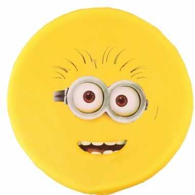 Feest minions schuim frisbee geel twee ogen 42 cm