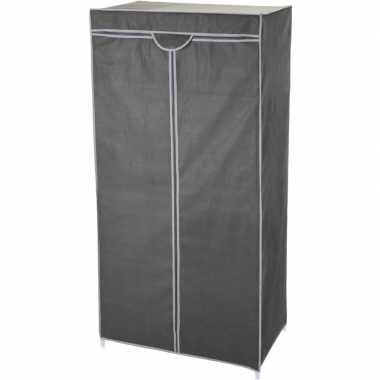 Feest mobiele opvouwbare kledingkast met grijze hoes 160 cm