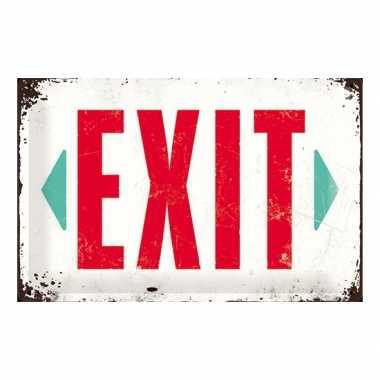 Feest muurplaatje exit 20 x 30 cm