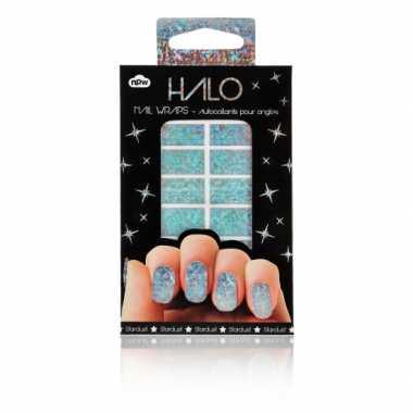 Feest nagel sticker pakket glitter