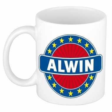 Feest namen koffiemok theebeker alwin 300 ml