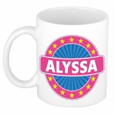 Feest namen koffiemok theebeker alyssa 300 ml