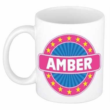 Feest namen koffiemok theebeker amber 300 ml
