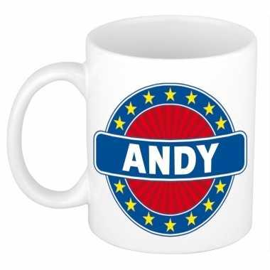 Feest namen koffiemok theebeker andy 300 ml