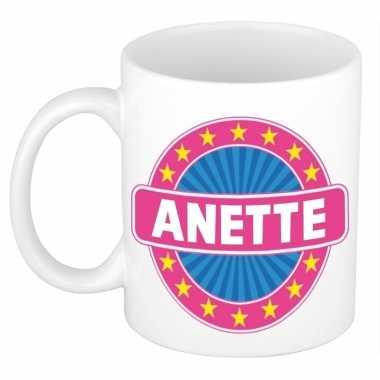 Feest namen koffiemok theebeker anette 300 ml