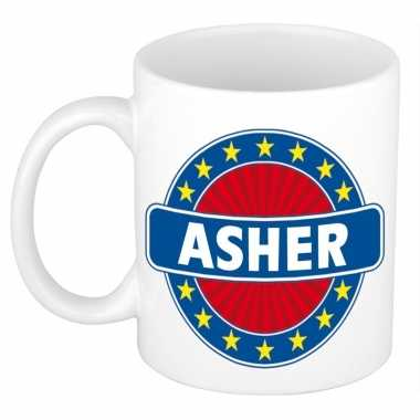 Feest namen koffiemok theebeker asher 300 ml