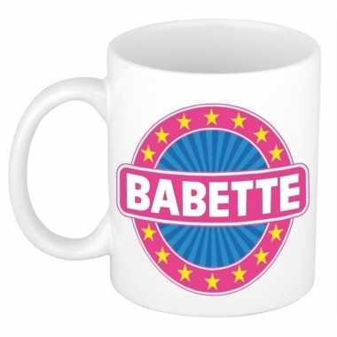 Feest namen koffiemok theebeker babette 300 ml