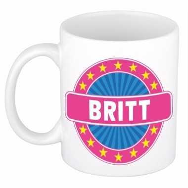 Feest namen koffiemok theebeker britt 300 ml