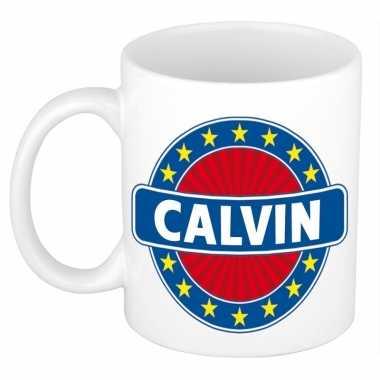 Feest namen koffiemok theebeker calvin 300 ml