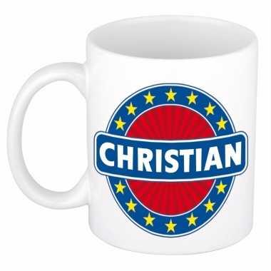 Feest namen koffiemok theebeker christian 300 ml