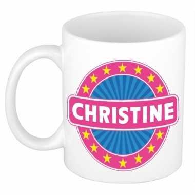 Feest namen koffiemok theebeker christine 300 ml