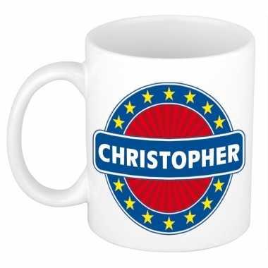 Feest namen koffiemok theebeker christopher 300 ml
