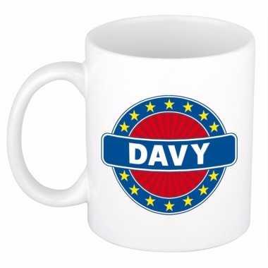 Feest namen koffiemok theebeker davy 300 ml